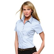 Women's corporate pocket Oxford blouse short-sleeved (tailored fit)