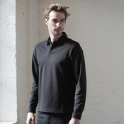 Long sleeve stretch polo