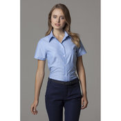 Women's workplace Oxford blouse short-sleeved (tailored fit)