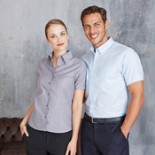 Short-sleeved easycare Oxford shirt